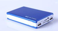 Wholesale Digital Battery Backup - 1 PC sales, power bank 20000 mah, double USB charger, mobile phone backup battery, digital camera adapter, LED flashlight