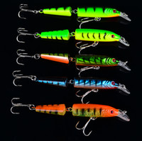 Wholesale New Jointed Minnow Lures - New Design jointed minnow lures Fishaing Lures Exported to USA Market Fishing Tackle 5 Color 10.5cm 9.6g Fishing Bait Free Ship