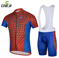 Wholesale Cycling Jersey Spiderman - spiderman 2016 Mountain Racing Bike Cycling Clothing Set Breathable Bicycle Cycling Jerseys Ropa Ciclismo Short Sleeve Cycling Sportswear