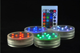 Wholesale Party Supplies Submersible Light Remote - Remote controlled Multi-Colors submersible Led light Wedding Party supplies Decoration Floral Light