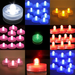 Wholesale Submersible Waterproof Wedding Floral Decorations - 48pcs Lot 100% Waterproof LED Candle Wedding Decoration Submersible Floralyte LED Tea Lights Party Decoration LED Floral Light