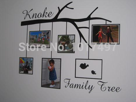 Family Tree Wall Picture Frame family tree vinyl photo frame wall stickers ,sofa tv background