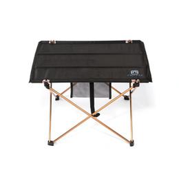 Wholesale Outdoor Aluminium Lights - High Quality Aluminium Alloy Ultra-light Portable Folding Table Foldable Outdoor Camping Picnic Desk 690g 7075 H11599