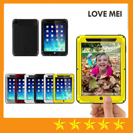 Wholesale Waterproof Skin Ipad Air - Love Mei Powerful Defender Case for iPad Air 5 Mini Retina 2 ipad air2 ipad 6 Multi Layer Heavy Duty waterproof Shockproof Case free