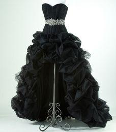 Новые A Line Organza High Low 2016 Пром-платья с бисером из бисера с длинным рукавом с длинным рукавом с длинным рукавом с длинными рукавами W2065