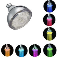 ABS Water Saveing ​​Rainfall 7 couleurs Changing LED Flash Light Salle de bains Douches de douche ronde