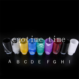 Wholesale Ego Ce6 Stainless - 20PCS Acrylic Muffler Drip Tip Wide Bore Drip Tips Stainless Steel glass Mouthpieces for 510 EGO CE4 CE6 Vivi Nova EVOD E Cig Tanks atomizer