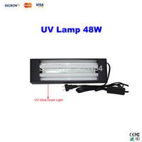 Wholesale Uv Cured Glue - Free ship! 48W UV lamp For Mobile LCD Refurbishment, UV glue dryer nail gel curing light