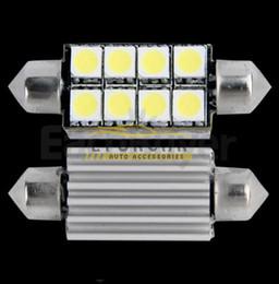 Wholesale Led Car Festoon - 10Pcs lot Overvalue 41mm 8 SMD 5050 LED Pure White Dome Festoon CANBUS Error Free Interior Car Auto Reading Light Parking Lamp Bulb