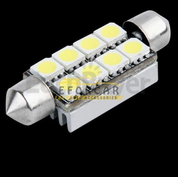 10st / mycket övervärde 41mm 8 smd 5050 ledd ren vit kupol festoon canbus felfri inredning bil automatisk läsning ljus parkering lampa lampa