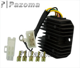Wholesale Honda Motorcycle Regulator Rectifier - Black Aluminum alloy custom motorcycle parts voltage regulator rectifier for Honda Frome Pazoma