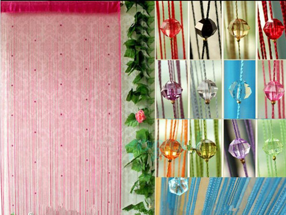 2018 Beaded String Curtain Fringe Curtains Fly Insect Door Screen ...