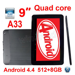 "A33 Quad Core Tablet Australia - 50PCS Cheapest 9 inch 9"" Allwinner A33 Quad Core 1.5Ghz Android 4.4 kitkat Tablet PC MID 512MB 8GB Dual camera Bluetooth Wifi Colorful DHL"