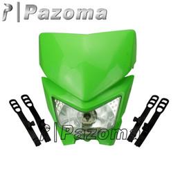 Wholesale Ninja Headlight - PAZOMA - Continuing hot selling Street Fighter Head Light Fairing Kawasaki EX 250 EX500 Ninja GPZ 636 ZX6R Green
