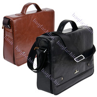 Wholesale Handbag Briefcase Women - Wholesale-OP-New arrival Men's Leather bag briefcase men Messenger handbag Casual High Quality 9389