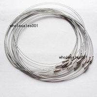 Wholesale Steel Wire Cord Necklace - Factory Directly Selling 100pcs Per lot 18inches Silver Color Stainless Steel Wire Cord Chocker Necklace for DIY Jewelry
