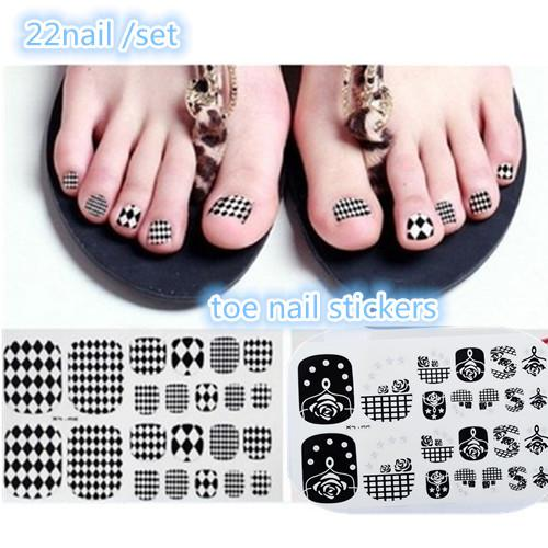 X 2014 New Blackwhite Fashion Nail Foil Of Nail Art Stickers
