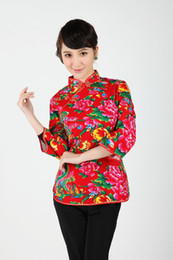 Blouse De Style Femme Pas Cher-Livraison gratuite Printemps 2015 style chinois Chemisiers Top cheongsam chinois traditionnel Chemisier Top 3 couleur chinoise 2362