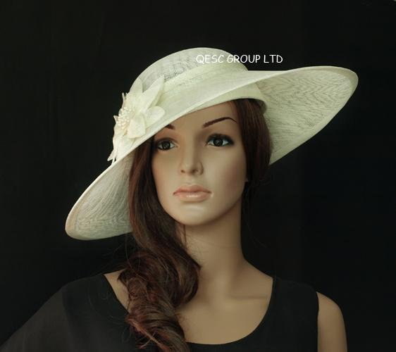 Ivory CreamLarge Sinamay Hat Saucer Fascinator For Kentucky Derby Church.  Hair Accessories For Girls Hair Accessories Online From Qescgroup 6dca2b528df