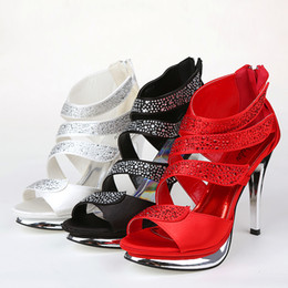 Wholesale White Faux Leather Dresses - Exquisite New Wedding Shoes High-Heeled Shoes Shallow High Heel Bridal Shoe for Dresses SA20