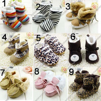 Wholesale Wholesale Animal Print Boots - 2014 Winter Newborn Infant Boots 0-24M Toddler Baby's Boy girl First Walker Boots Baby Shoes C001