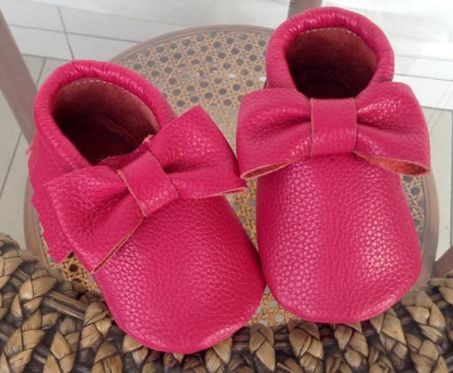 Popular Baby fringe moccasins shoes soft sole moccs genuine leather prewalker booties toddlers/infants bowknot fringe moccasin maccasions