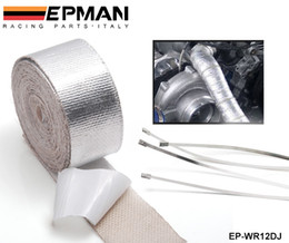 Wholesale Aluminum Piping Kit - Tansky - Car Aluminum Reinforced Tape Adhesive Backed Heat Shield Resistant Wrap For All Intake pipe   Suction Kit EP-WR12DJ