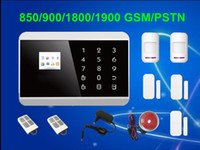 Wholesale Voice Sms - Free Shipping!Touch Keypad+LCD display screen 99 Wireless Zone GSM PSTN SMS Home Security Voice Burglar House Android Alarm