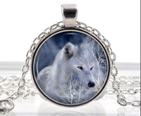Wholesale Wholesale Fantasy Jewelry - Polar White Wolf Necklace -Arctic Wolf Pendant - Fantasy Animal Jewelry Gifts