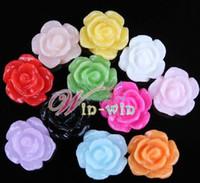medallones de resina al por mayor-2014 nueva venta caliente de los encantos flotantes coloridas flores de resina, flor flotante del encanto del locket envío libre