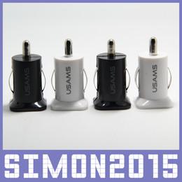 USAMS 5V 3.1A Mini Dual USB 2 Port Chargeur de voiture Adaptateur universel pour tous les téléphones iPhone 4 4s 5 5s 5c 6 iPad Samsung Samsung Android ? partir de fabricateur