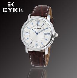 Wholesale Eyki E - E-Times EYKI Brand Men's Sports Watches,Men Leather Quartz Watches Auto Date,with MIYOTA 2035 Japan Movt,12-month Guarantee