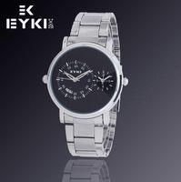 Wholesale Eyki E - E-Times EYKI Brand Men's Full steel Watches, Dual Time Digital Analog Watches,Waterproof Wristwatch,12-month Guarantee