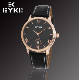 Wholesale Eyki E - 3ATM Waterproof!! E-Times EYKI Brand Men's Casual Watches,High Quality Leather Watches Auto Date,12-month Guarantee