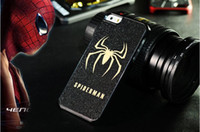 Wholesale S3 Superman - Spiderman batman superman iron man transerformman bling powder Case for iPhone 4 4s 5 5s 5c 6  S3 S4 S5 pc+pu skin case cover