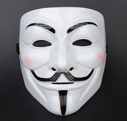 Wholesale Cool Halloween Costumes For Guys - Hot Sales V for Vendetta Anonymous Movie Adult Guy Hot Halloween Cosplay Cool Costume Mask