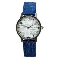 relógios de pulso venda por atacado-JW626 Elegante Unisex Relógios de Quartzo Homens Relógios Desportivos Tecido Denim Mulheres Vestido Relógio Japão Movimento 6 Cores