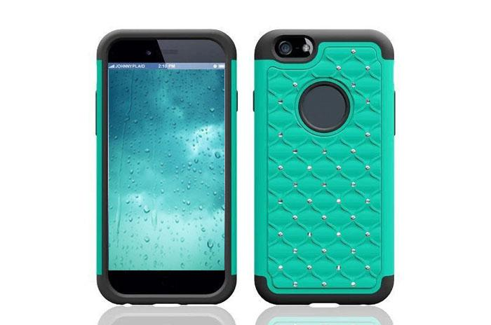 Fashion Diamond 2 in TPU Heavy Duty Hybrid Hard Cases Stars Cover for iphone 6 plus 5.5 inch iphone6 4.7''