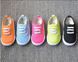 Wholesale Colored Canvas Shoes - Candy-colored canvas shoes toddler shoes for children 1-4 years