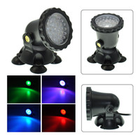 36 LED submersível Underwater Aquarium Light Blue Led Light Garden Pond Fish Tank Red Yellow LED Luz Waterproof Spotlight Paisagem Lâmpada