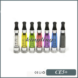 Wholesale Ego Atomizer Wick Replacements - No Wick CE5+ Clearomizer Cartomizer Atomizer for EGO Battery 1.6ml Capacity Replacement Coils Head Electronic Cigarette free shipping