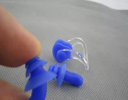 Wholesale Free Sleeping Clips - Free shipping waterproof swimming earplugs Anti-noise ear plug sleeping professional ear noise Plug & nose clip,30pcs lot
