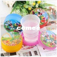 Wholesale Paper Folding Cup - Wholesale-OP-8pcs Diy plastic Foldable travel traveller cup meal cup, can be fold up as a paper, free shipping