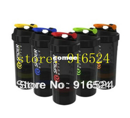 Wholesale Discount Water Bottles - Wholesale-OP-Free Shipping + 2013 Discount The New Black 3 In 1 Protein Powder Shaker Bottle,Water Bottle,Sports Bottle + 500ML