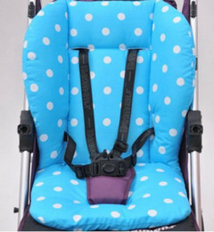 Wholesale Stroller Liners - Wholesale-OP-2 pieces lot Baby Strollers accessories cotton dot baby stroller cushion seat cover Baby carriage mat stroller pad pram liners