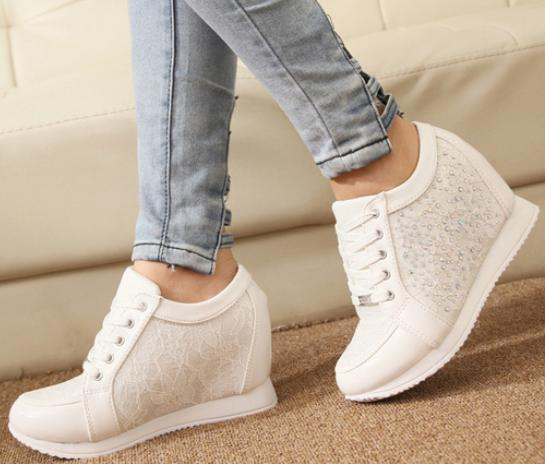 Wholesale OP Platform Shoes Women Sneakers 2014 Running Sport High Quality  Shoes Fashion Summer Leather High Top White Wedge Sneaker Mens Boots