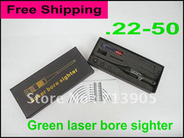 Wholesale Green Bore Sighter - Wholesale-OP-Free shipping .22-.50 green DOT .22 to .50 caliber laser bore sighter laser boresighter free batteries top quality