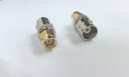 Wholesale Antenna Bnc - copper BNC female to Gold Plated SMA male plug coax RF antenna ADAPTER