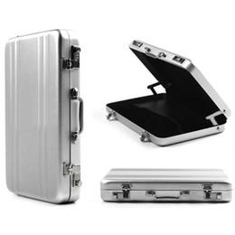 Vente en gros Gros-OP-Livraison gratuite Mini Aluminium Métal Mot de Passe Porte-Monnaie Type Cas de Carte de Visite Banque ID Carte Cas