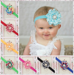 Wholesale Wholesale Chevron Baby Headbands - 13 Colors new chevron with pearl children hair band baby girl headband kids infant toddler hair accessories baby gifts ornaments